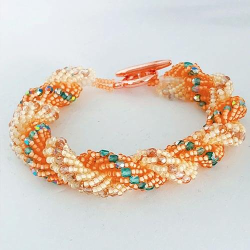 Double String bracelet Orange Creme